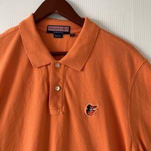 Orange Vineyard Vines Orioles Polo Men's XL
